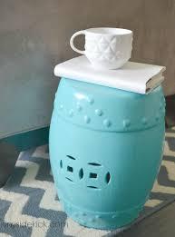 turquoise garden stool knock off