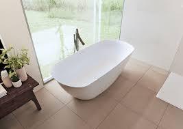 Solid Surface Bathtubs Riho Bilo Freestanding Bathtub In Solid Surface Solid Surface