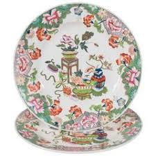 set of 12 porcelain botanical plates spode circa 1900