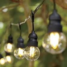 commercial led edison string lights 16 foot black wire warm