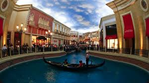 Venetian Hotel Map Interior Views Of The Venetian Hotel And Casino With Canals And