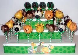 animal cake pops for baby shower baby shower diy