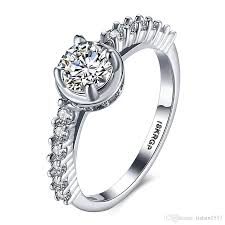 real diamond engagement rings 18krgp st real gold ring 0 6 ct sona cz diamond engagement ring