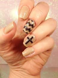 rhinestone cross and chevron easter themed nails youtube