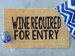 wine wine lover gift wine gift wine doormat funny doormat