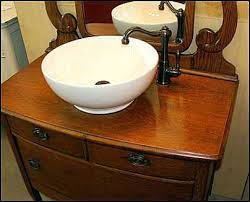 Old Dresser Made Into Bathroom Vanity Vanities Antique Dresser Vanity With Vessel Sink Washstand Made