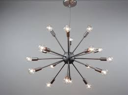 sputnik chandelier satin steel 24 inches in diameter with 24 arms