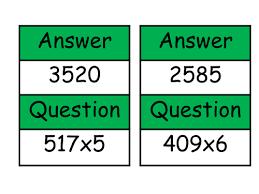 long multiplication treasure hunt by jad518nexus teaching
