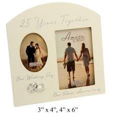 25 wedding anniversary gift 25th wedding anniversary gift picture frame