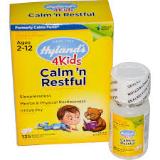 hyland u0027s calm u0027 n restful 4 kids 125 quick dissolving tablets