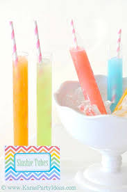 kara u0027s party ideas summer labor day treats slushie tubes