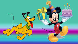 mickey mouse and pluto birthday cake celebration gifts desktop