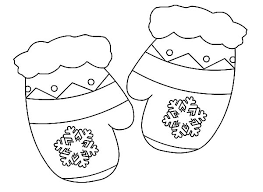pretty design ideas mitten coloring pages free winter coloring