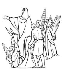 jesus and people of jerusalem in palm sunday coloring page jesus