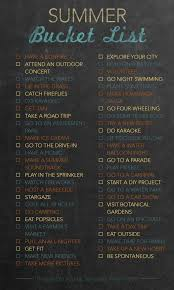 summer list 50 activities to try buckets tired and 50th