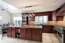 transitional cherry kitchen livingston new jersey by design line