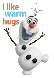 large pvc removable olaf the snow man wall decals stickers home