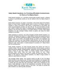 kathy nesbit vacations inc providing affordable condominiums for