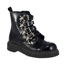 s boots buckle skull buckle womens combat boots tuk shoes sinistersoles com