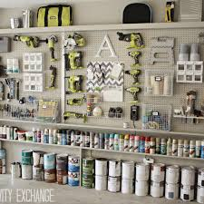 organizing the garage with diy pegboard storage wall in garage