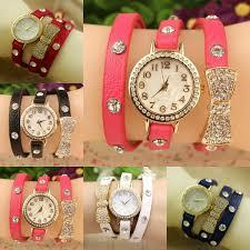 ladies watches bracelet style images New fashion cute women ladies girls quartz bracelet leather wrist jpg