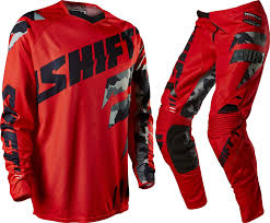 motocross riding gear combos 2015 shift faction motocross jersey u0026 pant kit combo camo red mx
