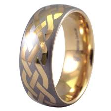 celtic knot wedding bands 18k gold tungsten celtic knot ring wedding band
