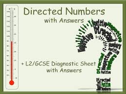 directed numbers and numbers worksheets with answers