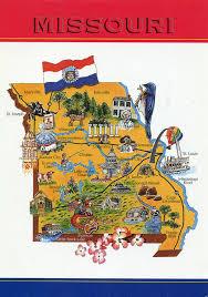 Map Of Missouri River Large Tourist Illustrated Map Of Missouri State Missouri State