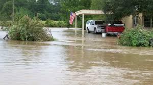 denham springs louisiana flood stock footage rushing flood water