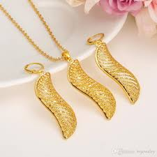 african jewelry necklace set images Dubai gold jewelry set fashion african jewelry hollow fan shaped jpg