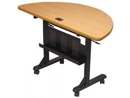 Teak Computer Desk Flipper Table Half Teak 48wx24d Flip Top Tables