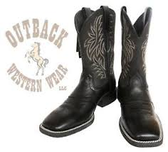 s boots cowboy ariat s black sport square toe cowboy boots 10016292