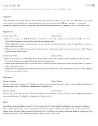 office resume templates for mac 28 images resume templates for