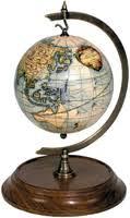 world globe ornament vaugondy 1745