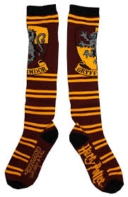 knee high halloween socks amazon com harry potter juniors knee high socks gryffindor