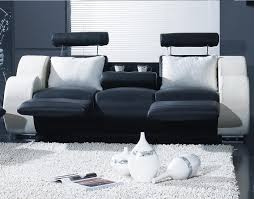 Contemporary Sofa Recliner Living Room Beautiful Leather Power Reclining Sofa In