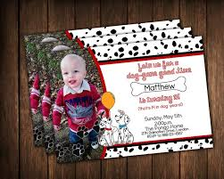 101 dalmation birthday dalmatian party invitation photo