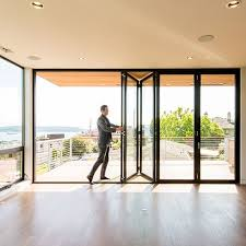 Accordion Glass Patio Doors Cost Residential Folding Swing Multi Slide Doors Lacantina Doors