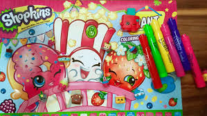 shopkins coloring and activity book with mr sketch scented markers