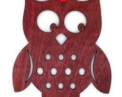 wooden owl ornament etsy