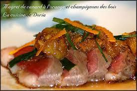 cuisiner magret de canard poele recette de magret de canard à l orange et chignons des bois