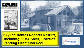 manufactured home costs skyline reports results including fema manufactured home sales