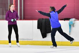 olympic skating star surya bonaly makes a surprise landing in