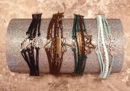 cat tree of life infinity charm black faux leather bracelet women
