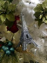 eiffel tower tree ornament available at vanilla home and