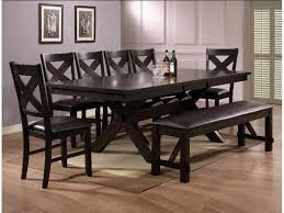 havana 6 piece dining set rectangular extension table 4 chairs crown mark havana 6 piece dining set rectangular extension table 4 chairs bench