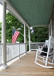 Porch Flag Summer House Tour Christinas Adventures
