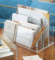 Desk Mail Organizer Acrylic Desktop And Mail Organizer Center In File And Mail Organizers