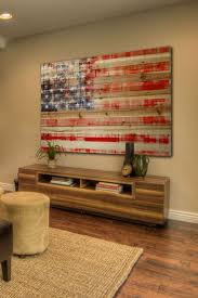 American Flag Home Decor Wall Art Designs Reclaimed Wood Planked American Rustic American